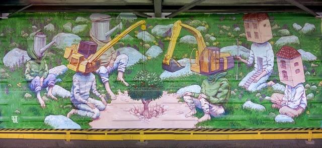 Rustam Qbic paints a new mural in Cheboksary, Russia - StreetArtNews (blog)