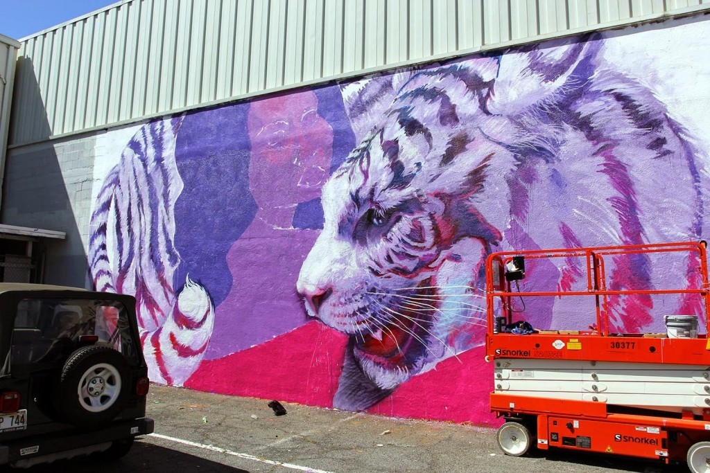 Pow! Wow! Hawaii 2015: Work in progress by Natalia Rak in Honolulu