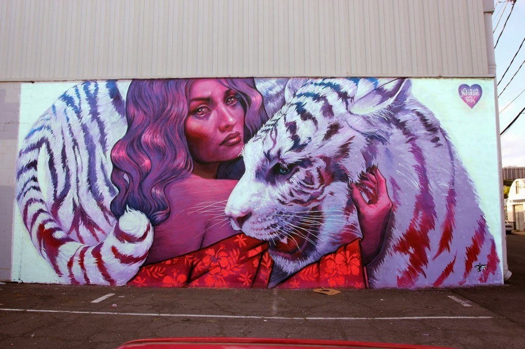 Pow! Wow! Hawaii 2015: Natalia Rak creates a new mural in Honolulu