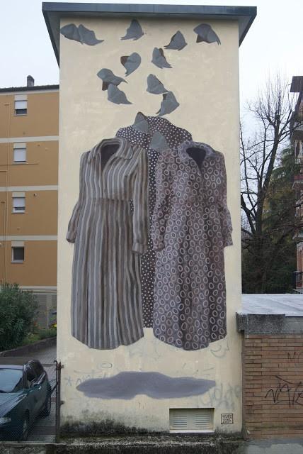 Hyuro, a large mural in Ravenna, Italy