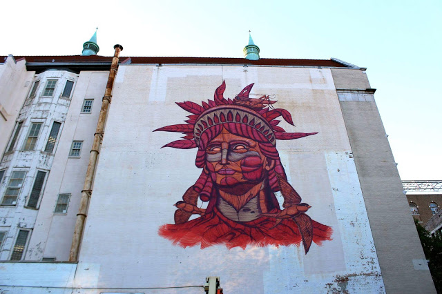 Sego creates a new mural in Harlem, New York City