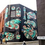 Reka paints a new street art mural in London, UK