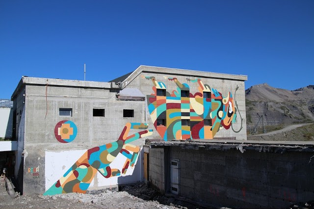 Reka reveals a large mural in the Swiss Alps for VAF 15