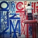 RETNA New Mural In Progress, NYC