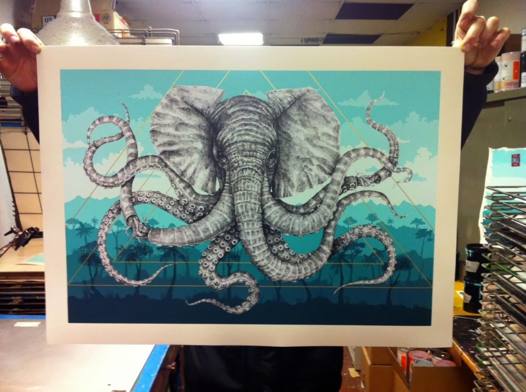 "Alexis Diaz ""Octophant"" Limited Edition Screen Print – Available March 4th"