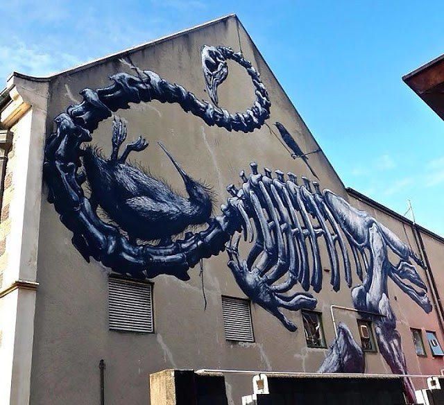 ROA New Street Art At The Canterbury Museum – Christchurch, New Zealand