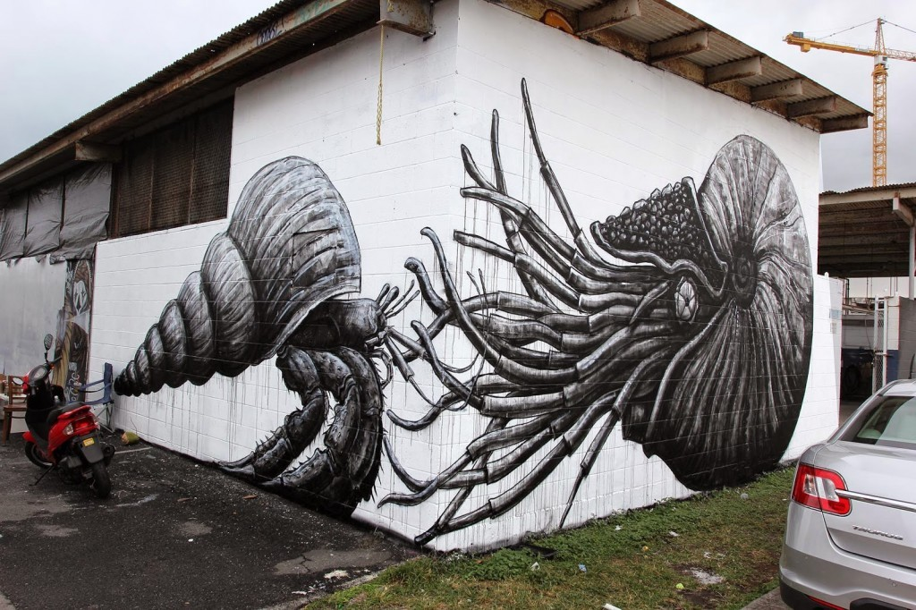 Pow! Wow! 15: ROA brings a new street piece to Honolulu