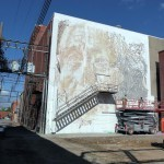 Unexpected '15: Work in progress by Vhils in Fort Smith, Arkansas