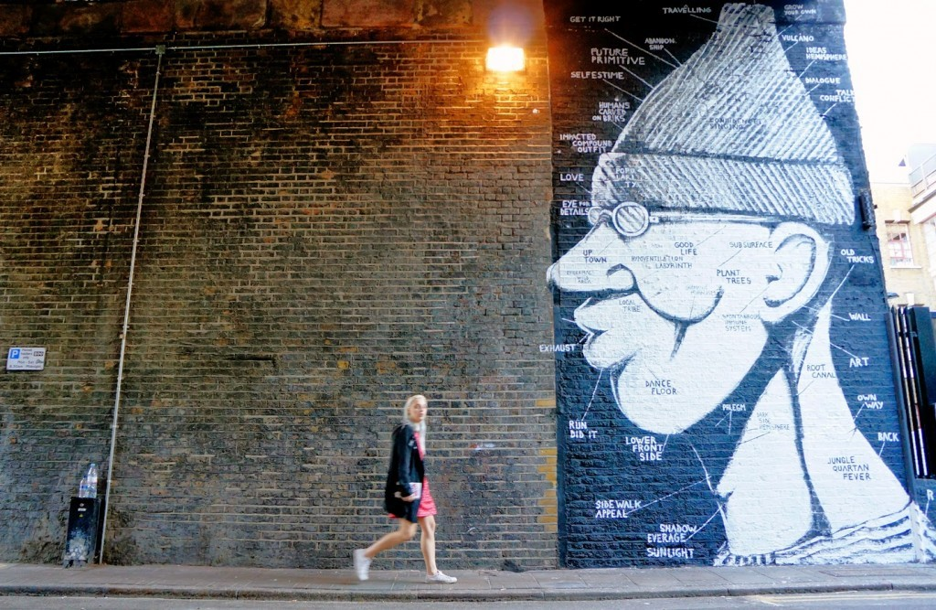 """RUN """"Phrenology"""" New Mural – East London, UK"""