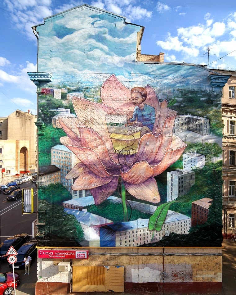 Rustam Qbic New Mural – Moscow, Russia