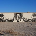 "Fin DAC x Angelina Christina ""Shesha Sand Storm"" New Street Art – Desert Shores, California"
