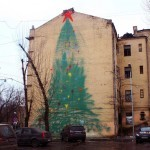 "0331c ""Christmas Tree"" New Mural – Moscow, Russia"