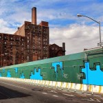 Aakash Nihalani New Mural – Domino Sugar Factory, Brooklyn