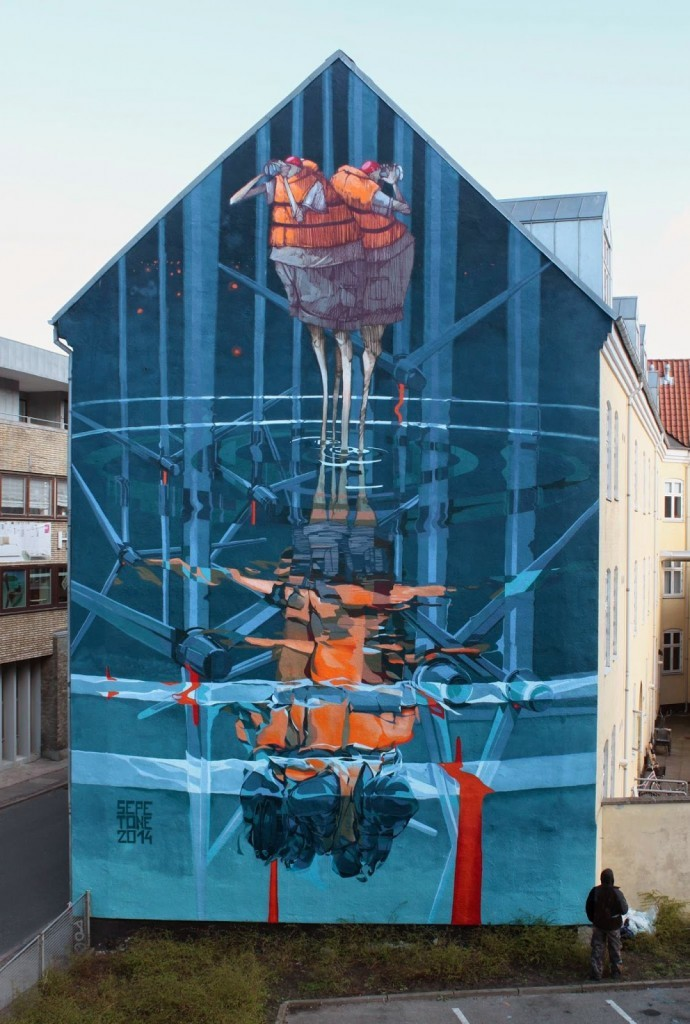 """Robert """"Tone"""" Proch x Sepe New Mural – Aalborg, Denmark"""