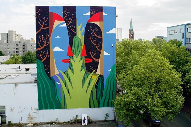 Agostino Iacurci unveils a brand new mural in Berlin, Germany