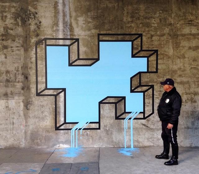 "Aakash Nihalani ""L.A Leaker"" New Street Piece - Los Angeles, USA"