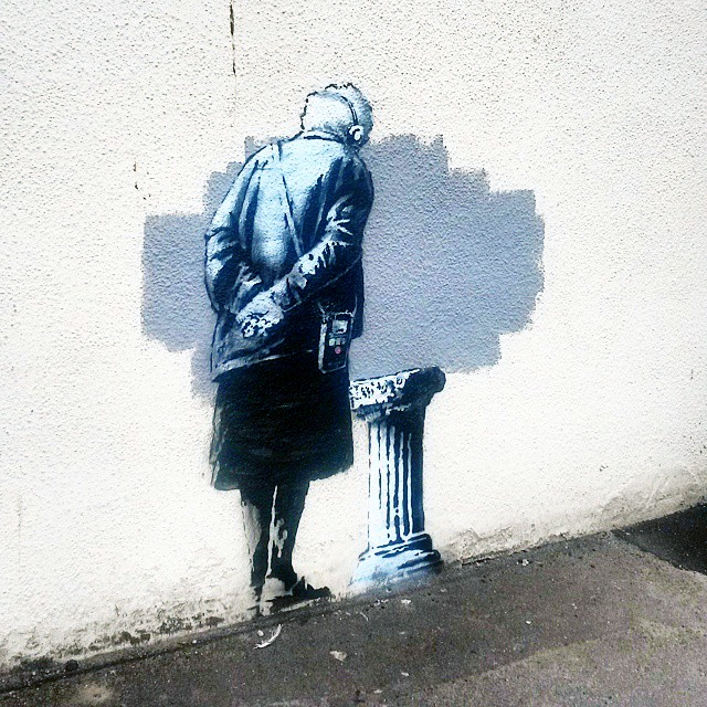 Banksy paints a new street piece in Folkestone, UK