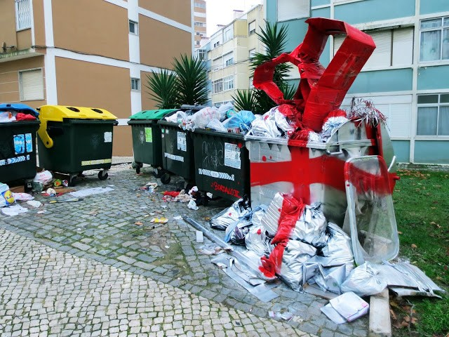 """Bordalo II """"Our Gift To Mother Nature"""" New Street Installation - Lisbon, Portugal"""