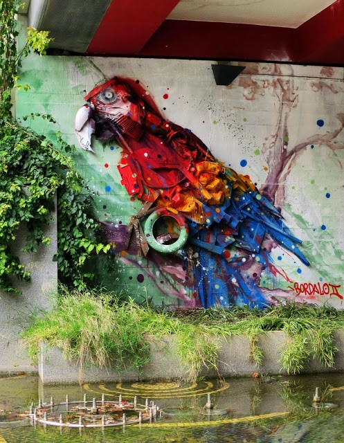 "Bordalo II ""Arara Do Bosque De Telheiras"" New Installation – Portugal"