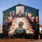 "Borondo paints ""Naranjada,  a new mural in Vila-Real, Spain"