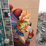 """Curiot """"Quetzen-tul con una canica más"""" New Mural – Mexico City"""