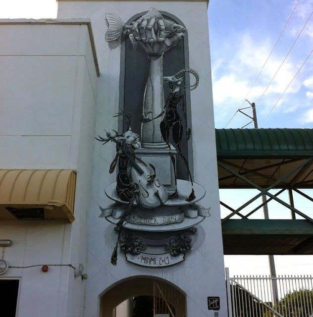 "Dome ""Together Guilty"" New Mural For Art Basel '13 – Miami, Florida"