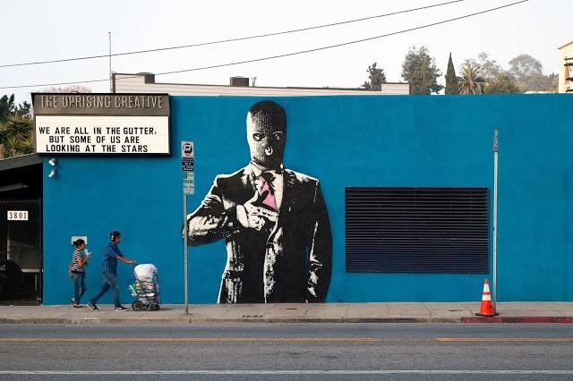 """Dot Dot Dot """"Handgun"""" New Street Art – Los Angeles, USA"""