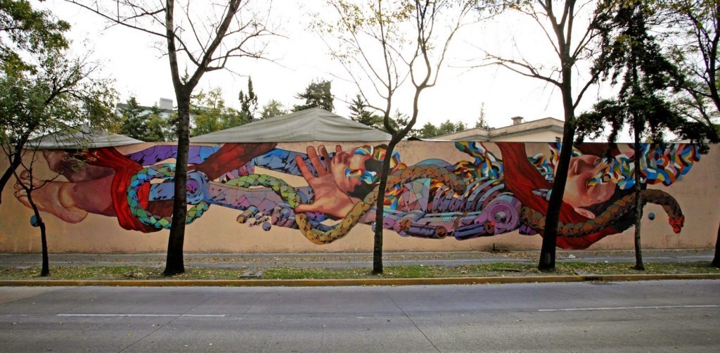 "Ever and Smithe collaborate on ""Libertad"", a new piece in Mexico City"