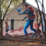 "Fintan Magee ""The Hikers"" New Mural – Sydney, Australia"