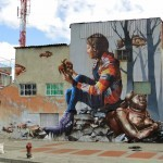 "Fintan Magee ""The Artifact"" New Mural – Bogota, Colombia"