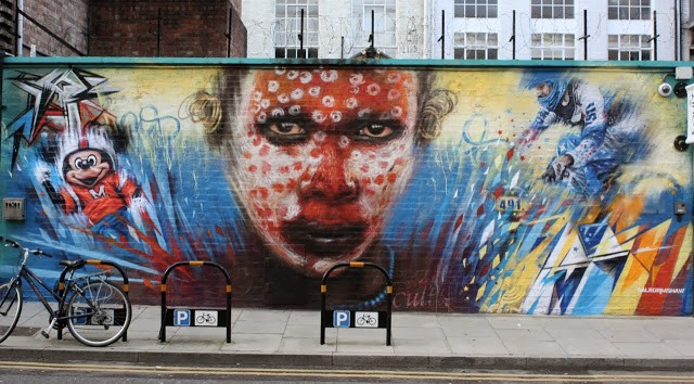 "Dale Grimshaw ""Wonderland"" New Mural – London, UK"