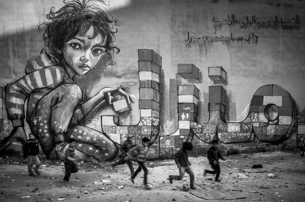 Herakut New Street Pieces – Za'atari, Jordan