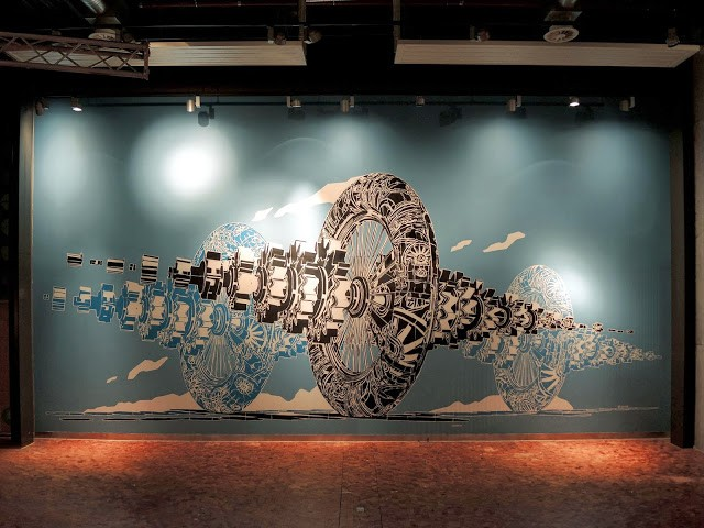 M-City New Indoor Mural For The Sandnes Museum – Norway