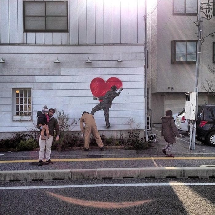 "Nick Walker ""Love Vandal"" New Street Piece – Hikone, Japan"