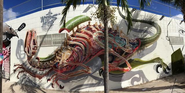 Nychos New Mural For Art Basel '13 - Wynwood, Miami