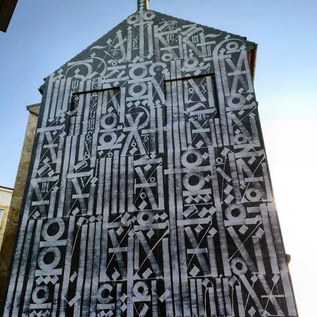 RETNA unveils a giant mural in Copenhagen, Denmark