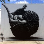 "ROA ""Armadillo"" New Mural For Art Basel '13 – Miami, USA"