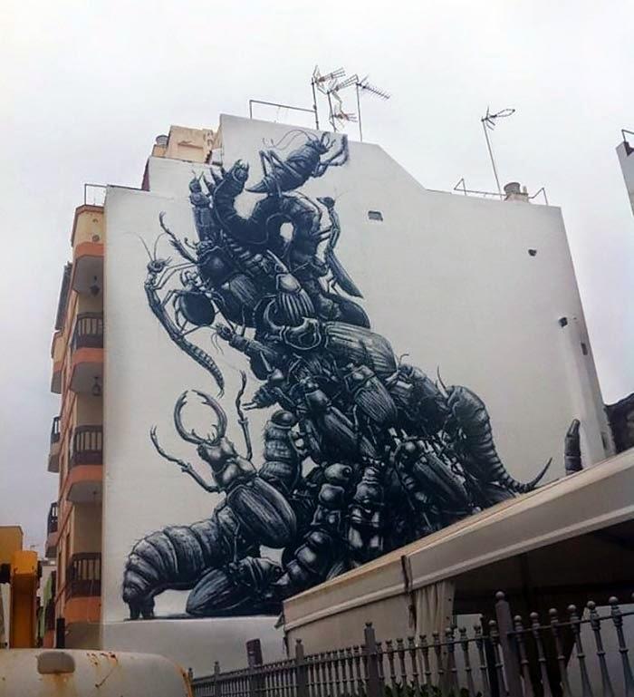 ROA New Mural For Puerto Street Art – Puerto De La Cruz, Spain