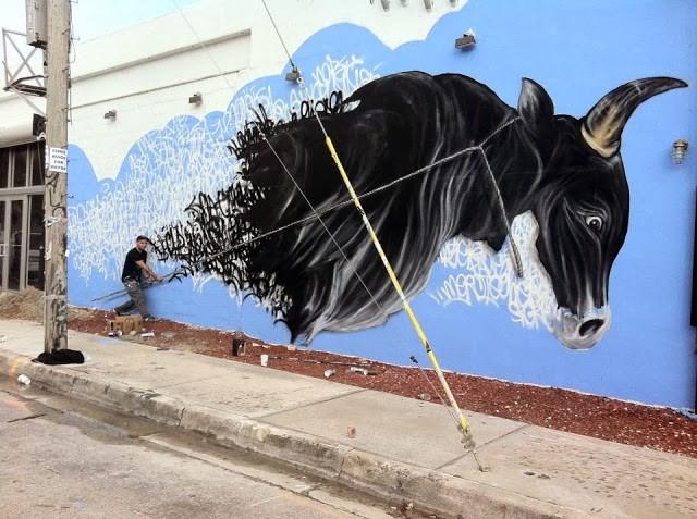Shai Dahan New Mural For Art Basel '13 – Miami, USA