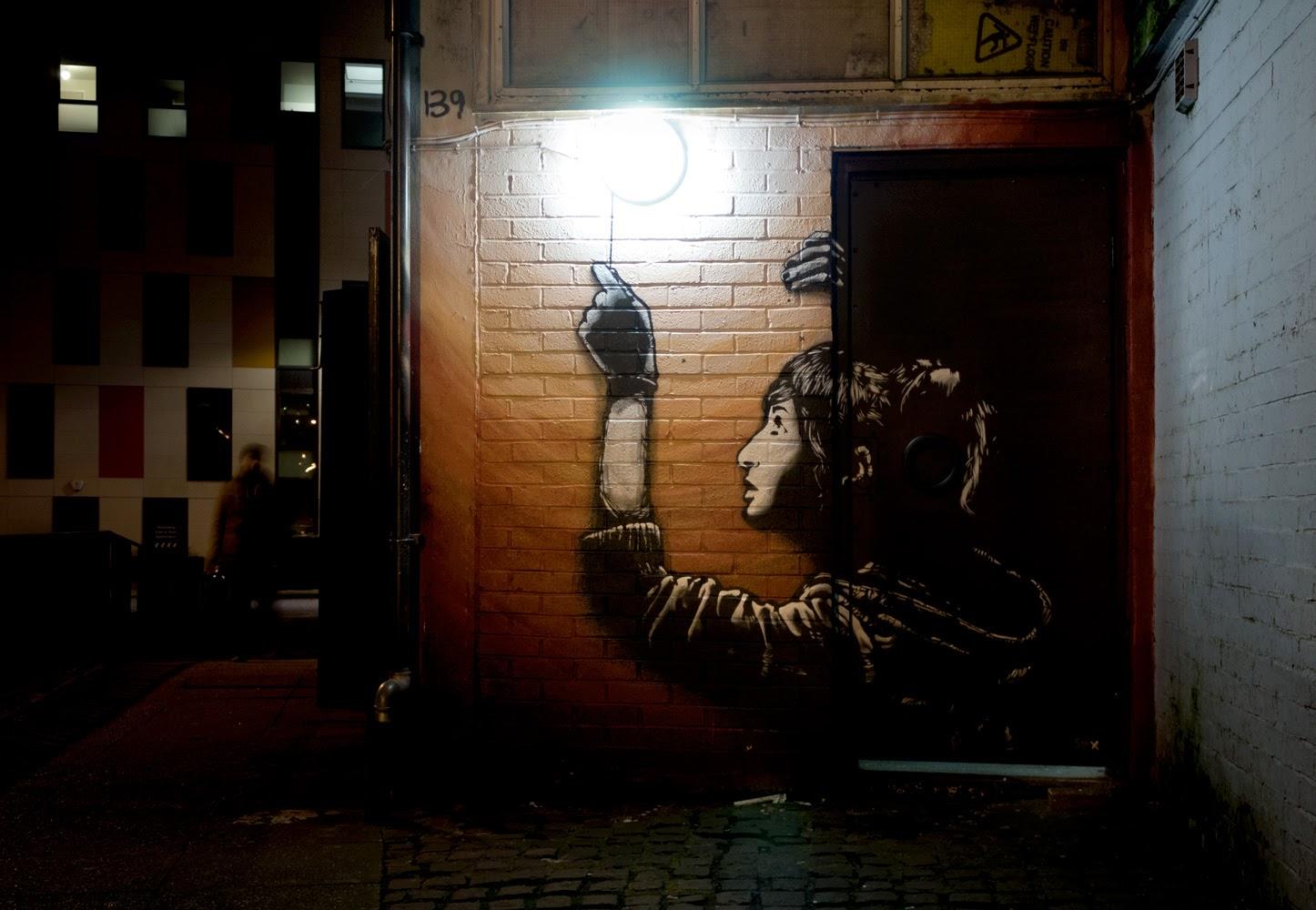 "Sr. X ""Light"" New Street Piece - London, UK"