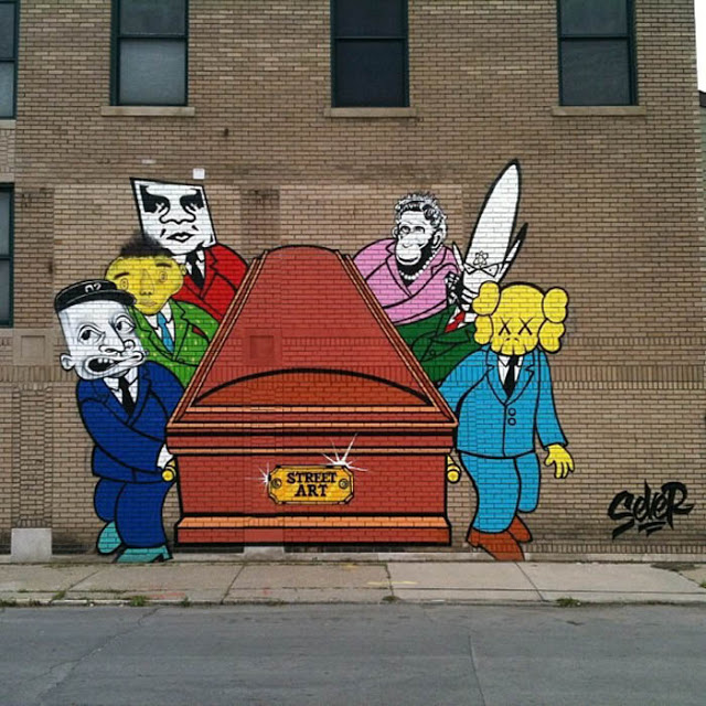 "Sever ""Street Art Is Dead"" New Mural In Detroit"