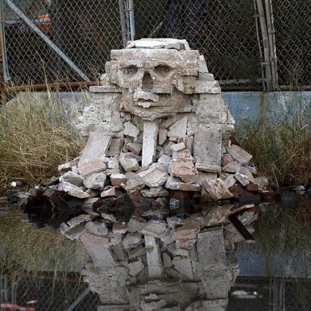 """Banksy """"Sphinx"""" New Sculpture For """"Better Out Than In"""" - Queens"""