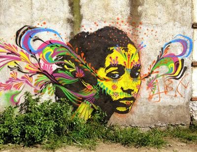 Stinkfish New Mural In Antigua, Guatemala