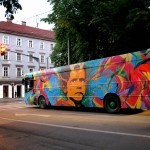 Stinkfish Paints a Bus in Graz, Austria