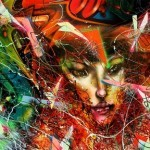 "David Choe ""Toxic LA Sunsets And The Dirty Moon Hangs Like A Filthy Fingernail"" New Print Available Soon"
