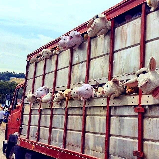 "Banksy ""Sirens Of The Lambs"" For Glastonbury 2014 – UK"
