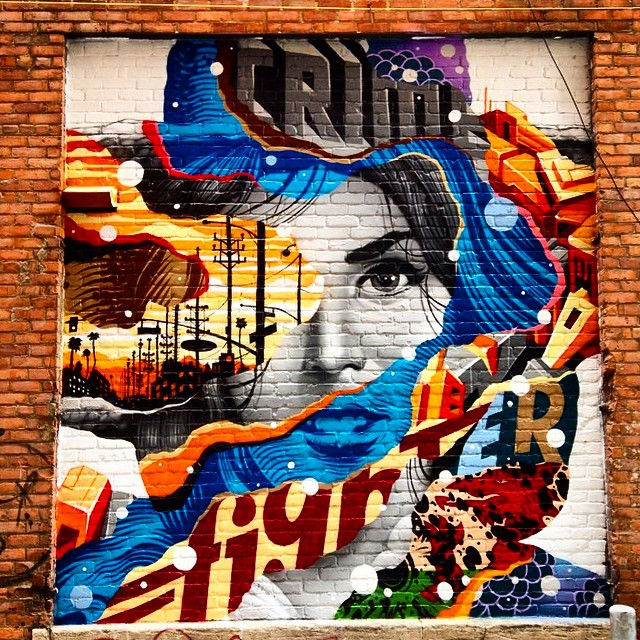 "Tristan Eaton ""Crime Fighter"" New Mural – Detroit, Michigan"