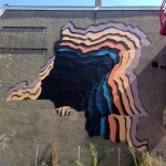 1010 paints a new optical illusion in Heerlen, Netherlands