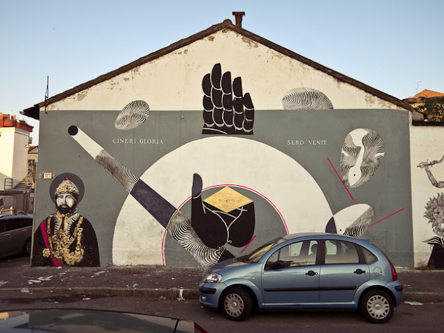 Never2501 x Ozmo x Basik x Moneyless New Mural In Milano, Italy