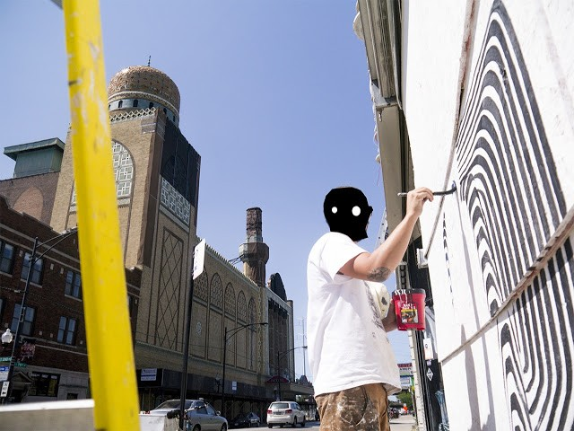 2501 New Mural In Progress, Chicago, USA